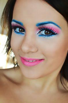 Marie In Aristocats Make Up by Johanna N. at Makeupbee Rave Makeup, Kiss Makeup, Maquillage Halloween, Halloween Makeup, 1980s Makeup And Hair, Makeup Tips, Beauty Makeup, Make Up Art, Aristocats