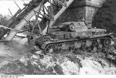 One of the 8th Panzer Division's Panzer IVs negotiates a river crossing during Operation Barbarossa, June 1941