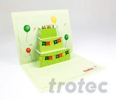 DIY laser samples with step-by-step instructions, tested laser parameters and free graphic files. Find inspiration for laser applications made of wood, acrylic, paper, cardboard and much more. Trotec Laser, Laser Art, Happy Birthday Cards, Print And Cut, Step By Step Instructions, Brochures, Templates, Create, Holiday Decor