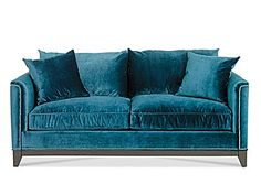 Jac and I are looking for new couches - I LOVE this color, material, not so much with my minnies!