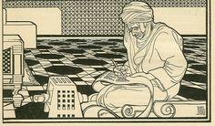 """Torah Scribe"" by Ephraim Moses Lilien (1874-1925)"