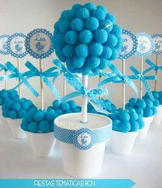 Centro mesa azul