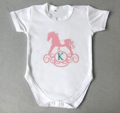 Bodysuits – Baby Onesie, Personalized Onesie, monogram – a unique product by Amaia-handmade on DaWanda