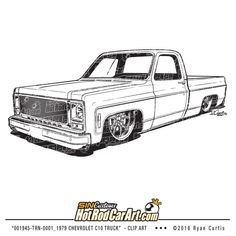 73-87 Chevy Truck Slammed, Lowrider, Dropped (decal
