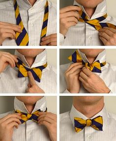 how to tie a bowtie. 9 easy steps. | Mr Trickett