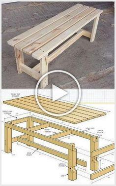 Diy Outdoor Furniture, Diy Pallet Furniture, Diy Furniture Projects, Woodworking Projects Diy, Diy Wood Projects, Woodworking Plans, Garden Projects, Handmade Wood Furniture, Outdoor Projects