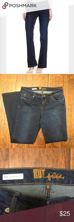 Kut from Kloth high rise bootcut Jean Meryl high rise bootcut. Excellent condition. Size 12. Kut from the Kloth Jeans Boot Cut