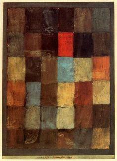 """ABSTRACCIÓN -  KLEE - """"Armonía en azul = naranja"""" de Paul Klee"""