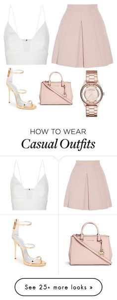 """""""Casual Glam"""" by taylorclarke-i on Polyvore featuring Alexander McQueen, Narciso Rodriguez, Michael Kors, Giuseppe Zanotti and Marc by Marc Jacobs"""