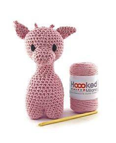 Hoooked Ziggy Giraffe (blossom) amigurumi crochet kit & pattern #crochet #gift #cute #animal #craft