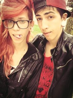 cute pierced couple.