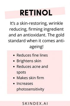 Retinol is a well known anti ageing ingredient but how does it work for oily or dry skin? Know more about retinol! #retinol #retinoid #BeautyRoutineCalendar Oily Skin Care, Healthy Skin Care, Face Skin Care, Anti Aging Skin Care, Natural Skin Care, Dry Skin, Natural Hair, Natural Beauty, Healthy Food
