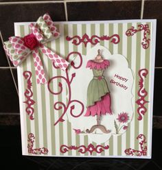 Another design from the Katie Sue CD.For sale on Etsy Birthday Cards, Happy Birthday, Paper Purse, Dress Card, Decoupage Paper, Big Shot, Paper Piecing, I Card, Handmade Cards