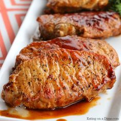 Easy Skillet BBQ Pork Chops - Eating on a Dime - - You just have to try this easy skillet bbq pork chops recipe. Your family will love it. This is the best and easiest bbq pork chops recipe. Easy Pork Chop Recipes, Pork Recipes, Cooking Recipes, Cooking Pork, Pork Meals, Spinach Recipes, Cooking Tips, Chicken Recipes, Cheese