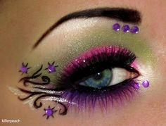 Creative Artistic Approach To Eye Make-up By Tal Peleg Aka Scarlet Moon