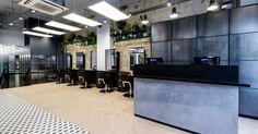 Our latest salon fit out for Hare & Bone salon in Esher, Surrey. Reis design created the salon interior design Retail Interior Design, Monochrome Color, Spa Design, Urban Industrial, Architectural Features, Surrey, Hare, Relax, Architecture