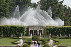 Фонтаны в саду Дюпона