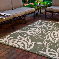 Safavieh Courtyard Leatrice Indoor/ Outdoor Rug x - Olive/Natural), Green Deck Rug, Patio Rugs, Outdoor Carpet, Indoor Outdoor Area Rugs, Outdoor Decor, Outdoor Life, Outdoor Rooms, Coastal Area Rugs, Herefordshire