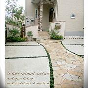 Entrance,玄関アプローチ,門柱,御影石,いつもいいね♡ありがとうございます!に関連する他の写真