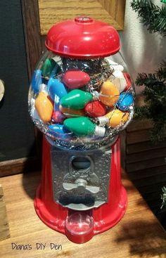 gumball machine merry bright, christmas decorations, repurposing upcycling, seasonal holiday decor