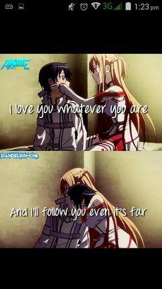 Kirito and asuna!!! The feels man the feels!