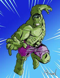 #Hulk #Fan #Art. (Hulk #002) By: Airod07. (THE * 5 * STÅR * ÅWARD * OF: * AW YEAH, IT'S MAJOR ÅWESOMENESS!!!™) ÅÅÅ+