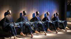 mannequins_repetition vitrine en répétition