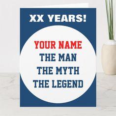 Shop Funny very big oversized Birthday card for men created by logotees. 16th Birthday Card, Unique Birthday Cards, Homemade Birthday Cards, Funny Birthday Cards, Birthday Quotes, Male Birthday Cards, Hockey Birthday, Man Birthday, 12 Year Old Boy