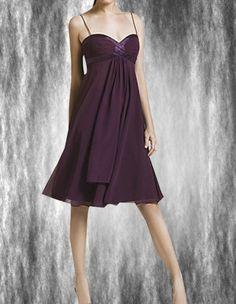 Zip Up Back Ruching A-Line Empire Waist Bridesmaid Dress