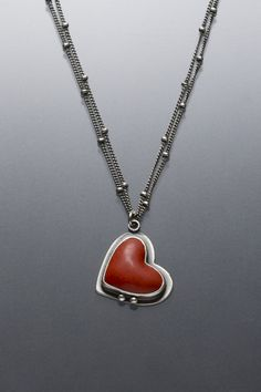 Petite Heart Necklace by AngelaGerhard on Etsy, $185.00