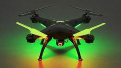 Amazon.com: Hero RC XQ6 4 Ch 6-Axis Headless RC Quadcopter Drone RTF 2.4Ghz w/ HD Camera + 3 Batteries + 2 Set Blade + 4GB Memory Card (Black): Toys & Games