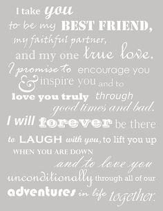 Cute vows!