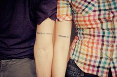 If ever two were one... then surely we Couples tattoo from Anne Bradstreets poem, To My Dear and Loving Husband