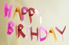 Tutorial - 3D Birthday Banner DIY   Oh Happy Day!