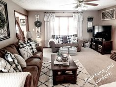 cool Lies You've Been Told About Fascinating Farmhouse Living Room Decor Ideas F. cool Lies You've Been Told About Fascinating Farmhouse Living Room Decor Ideas For You Here's What I Know About Fascinat. Plaid Living Room, Brown Couch Living Room, Living Room Grey, Home Living Room, Living Room Designs, Brown Couch Decor, Living Room Themes, Brown Home Decor, Brown Living Room Furniture