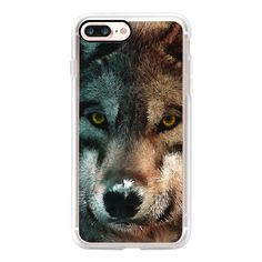 Animal Art - Wolf - iPhone 7 Case, iPhone 7 Plus Case, iPhone 7 Cover,... (270 HKD) ❤ liked on Polyvore featuring accessories, tech accessories, iphone case, iphone cases, apple iphone case, animal iphone cases and iphone cover case