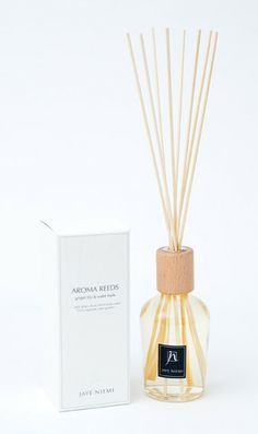 Aroma Reeds - Ginger Lily + Water Fruits  http://www.shopjayeniemi.com/collections/aroma-reeds/products/aroma-reeds-ginger-lily-water-fruits