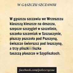 Polish Language, Visit Poland, Tongue Twisters, Man Humor, Texts, Wisdom, Education, School, Funny