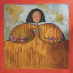 María Flor Óleo sobre lienzo. 100 x 100 cm.