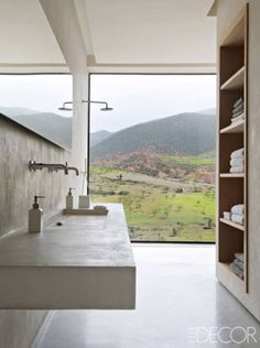 To create a retreat in the foothills of the Atlas Mountains, Studio KO employs traditional materials and local craftsmen but achieves a thoroughly contemporary vision 50 [FILENAME] Awesome Fine Wood Cabinet Ideas For Your Weekend Bathroom Interior Design, Interior Decorating, Decorating Ideas, Decor Ideas, Morrocan House, Tadelakt, Bathroom Inspiration, Design Inspiration, Cheap Home Decor