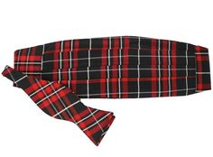 For you fancy pants holiday partygoers (you know who you are) Plaid Silk Bow Tie and Cummerbund Set @justmadras #happyholidays    http://www.countryclubprep.com/plaid-silk-bow-tie-and-cummerbund-set-in-black-red-and-white-by-just-madras.html
