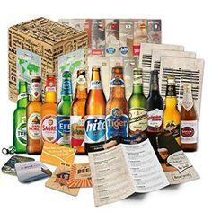Caja regalo con 12 cervezas del mundo http://www.milideaspararegalar.es/producto/caja-regalo-cervezas-del-mundo/