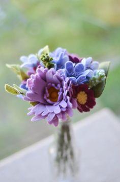 Peony Daisy & Wildflower Felt Flower Bouquet / by LeaphBoutique