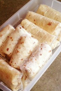 Make burritos in bulk and freeze them.
