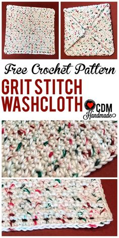 Washcloth Series: Grit Stitch Washcloth – CDM Handmade
