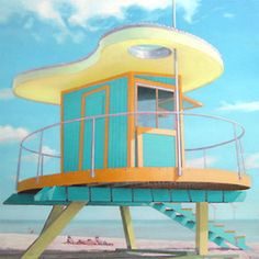 Miami Beach, Kenny Scharf Lifeguard Stand by Paul Caranicas