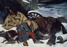 Scene from the Retreat from Russia, 1835 (oil on canvas)