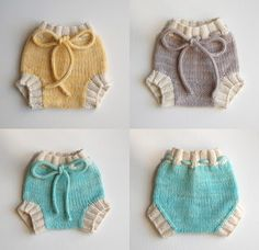 Knitted baby pants