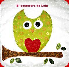 El búho Lola en telas