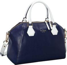 kate spade new york Catherine Street Pippa Convertible Satchel Handbag French Navy/Fresh White - via eBags.com!